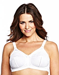 Dotty Jacquard Non Wired White Bra