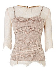 Montique Cobweb Lace Top