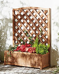 Fir Wood Wide Trellis Planter BOGOF