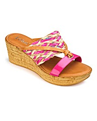 Lotus Interweave Mules EEE Fit