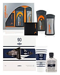 Umbro and Head Gift Sets BOGOF