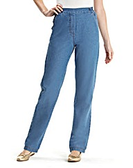 Suzy Pull On Cotton Jeans Short