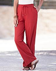 Linen Blend Trousers Length 25in