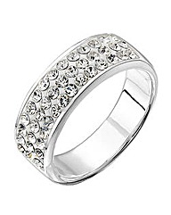 Simply Silver Crystal Pave Band Ring