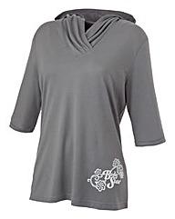 Body Star Yoga 3/4 Sleeve Hood