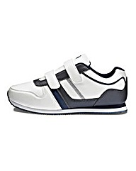JCM Sports Two Strap Trainers Extra Wide