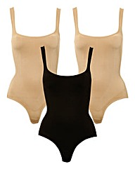 JML Belvia Underbust Bodysuit -Pack of 3