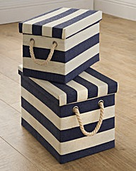 Set 2 Paperloom Lidded Storage Boxes