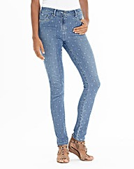 Spot Print Skinny Jeans