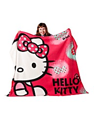 Hello Kitty Ink Fleece Blanket