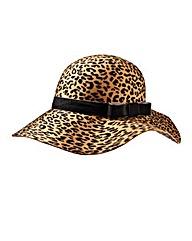 Leopard Print Floppy Hat