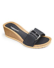 Cushion Walk Buckle Wedge Footbed E Fit