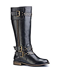 Legroom Studded High leg Boots E Fit