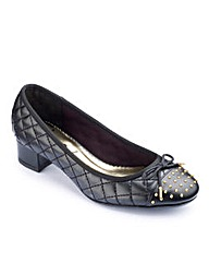 Simply Be Studded Block Heel Shoe EEE
