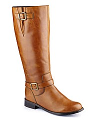 Legroom Double Buckle Boot Curvy Calf E