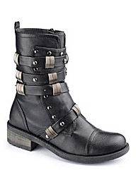 Dolcis Strappy Studded Boot EEE Fit