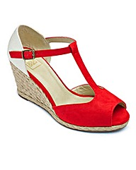 Sole Diva T-Bar Espadrille Wedge E Fit