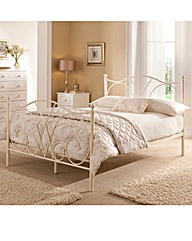 Provencal Double Bed with Basic Mattress