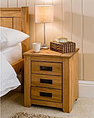 Oxford Solid Pine Bedside Table