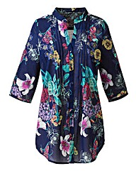 Petite Floral Print Cotton Tunic