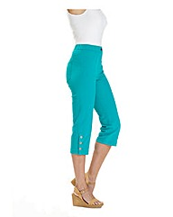 MAGISCULPT CROP TWILL TROUSERS 19IN
