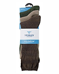 Morley Packs of 3 Super SoftGrip Socks