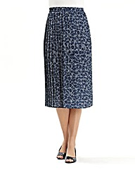 Print Pleat Skirt length 27