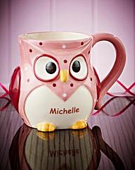 Personalised Owl Mug