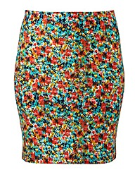 Printed Mini Tube Skirt Length 19in