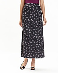 Print Jersey Skirt 30in