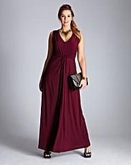 Pleat Knot Detail Maxi Dress