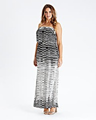 Black & White Print Maxi Dress