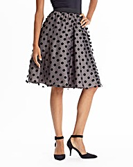Spotted Mesh Prom Skirt