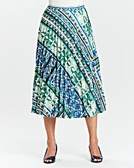 Sunray Printed Pleat Skirt Length 25in