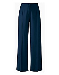 Wide Leg Linen Mix Trousers Length 30in