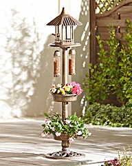 Bird Table with Two Feeders