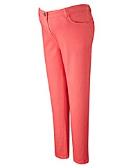 Maternity Slim Leg Coloured Jeans