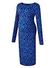 Maternity Print Bodycon Dress