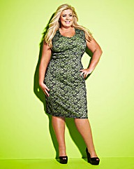 Gemma Collins Neon Stretch Lace Dress