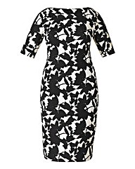 AX Paris Leaf Print Bodycon Dress