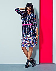 Simply Be Floral Dress With Waistband