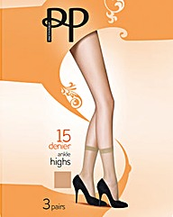 Pretty Polly 12 Pack Ankle Highs
