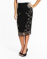 Joanna Hope Beaded Embellished Skirt