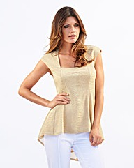Joanna Hope Metallic Jersey Top