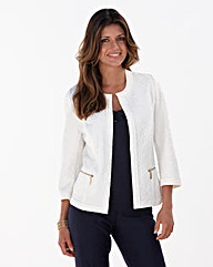 Joanna Hope Textured Jersey Jacket