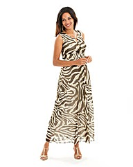 Joanna Hope Zebra Print Maxi Dress