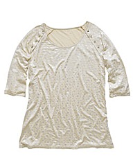 Angel Ribbons Skye Foil Print Top