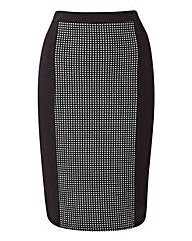 Jeffrey & Paula Spot Panel Pencil Skirt