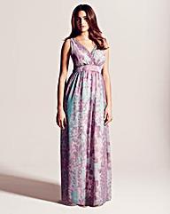 Project D Queens Print Maxi Dress 58in