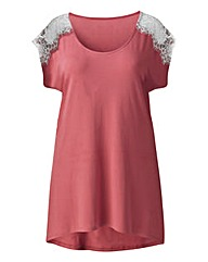 Angel Ribbons Layna Lace Trim Top